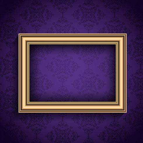 Vintage frame on wallpaper background