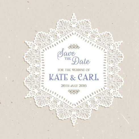 Vintage save the date design