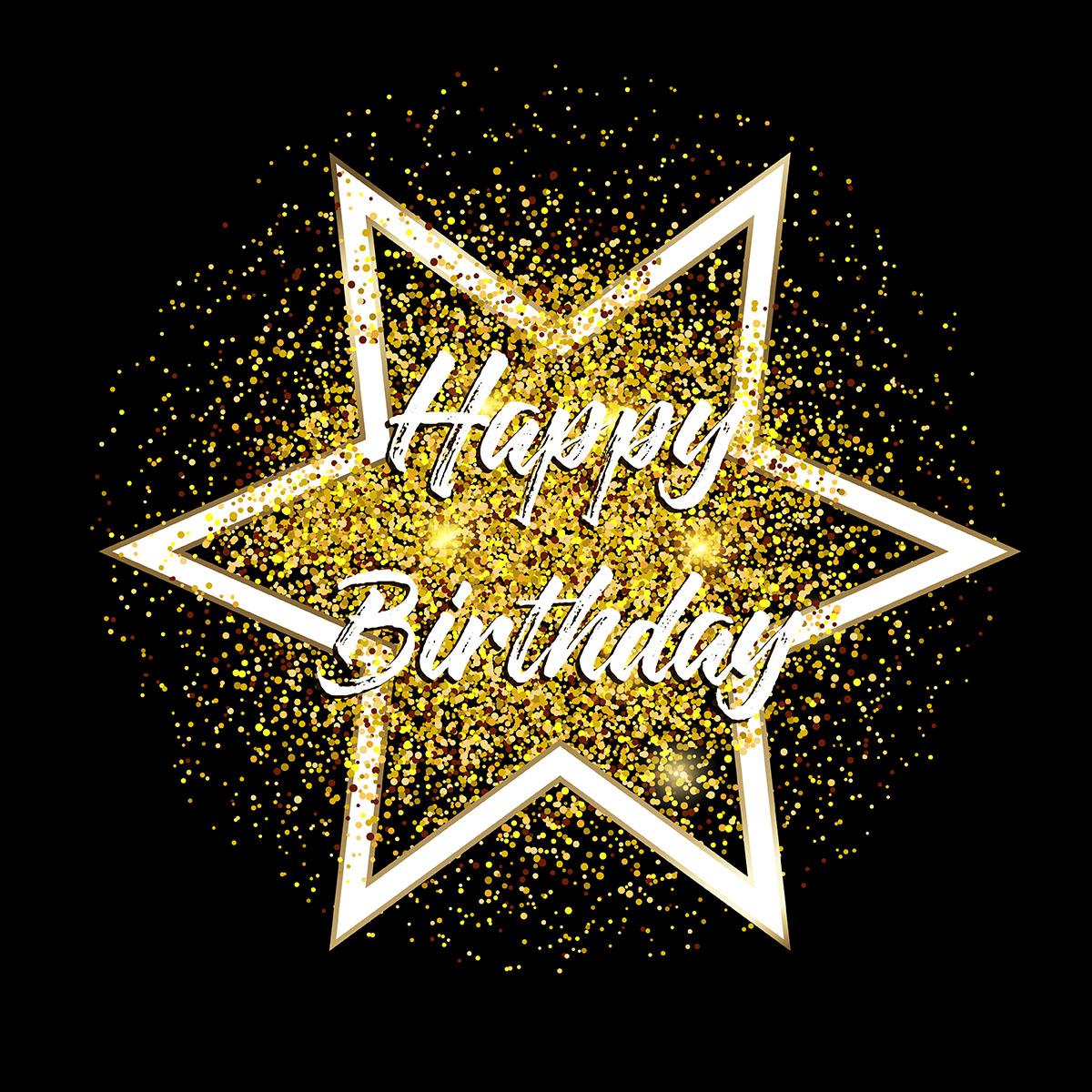 Gold glitter happy birthday background - Download Free ...