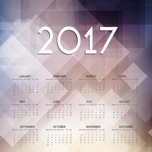 Calendar design for 2017