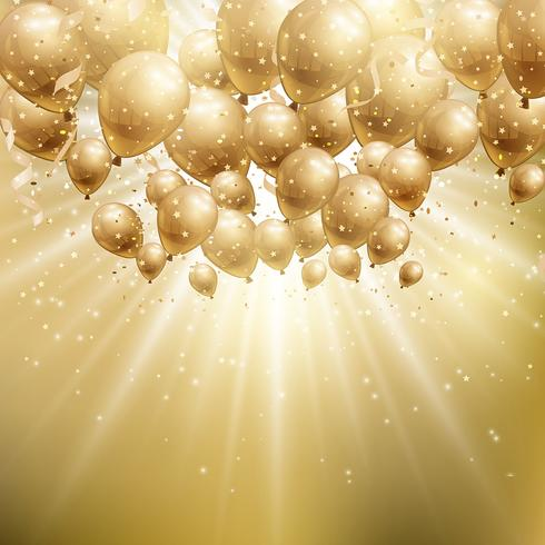 Gold balloons background