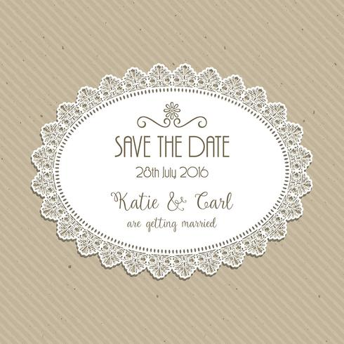 Decorative save the date invite