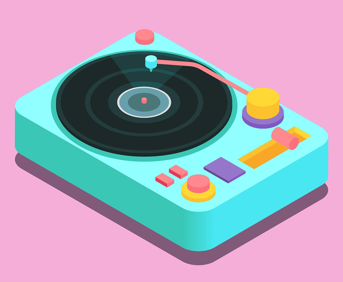 Vinyl Records Vector Illustration Download Free Vectors