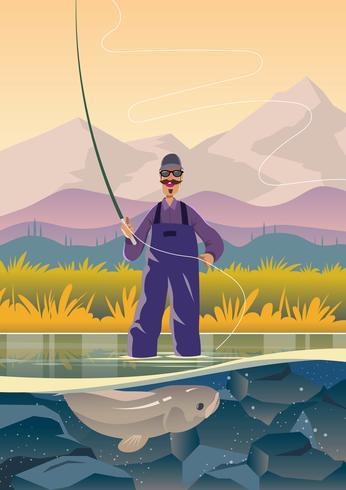Pesca con mosca pescador