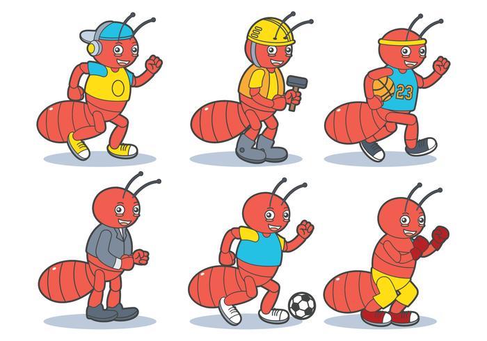 Conjunto de vetores de mascote de insetos