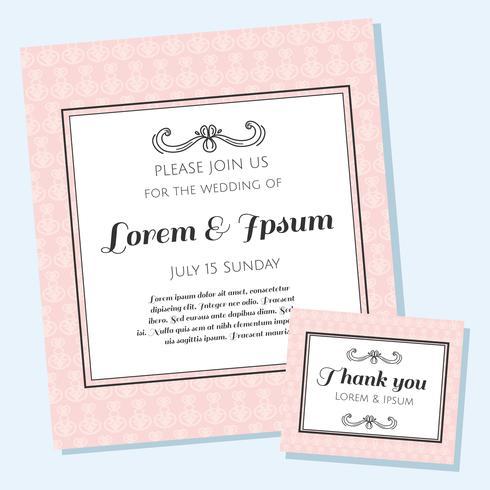 Elegant Wedding Invitation Vector