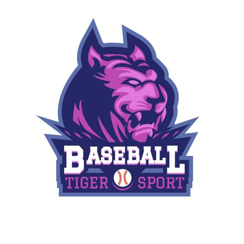 Baseball-Tiger vektor