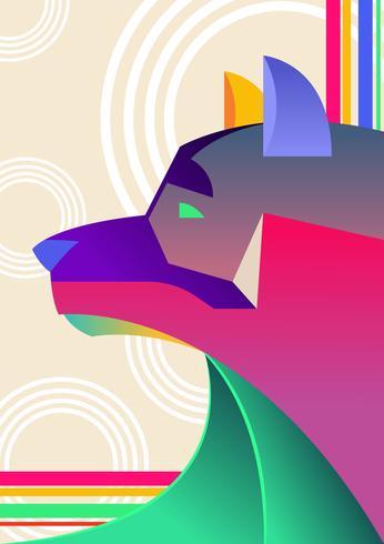 Cão abstrato