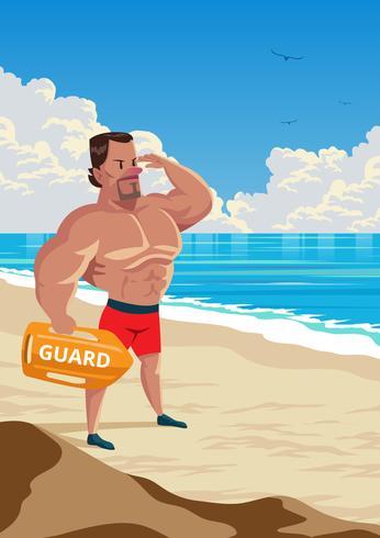 Illustration Of A Lifeguard