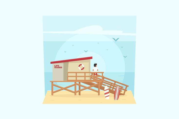 Rettungsschwimmer Vektor