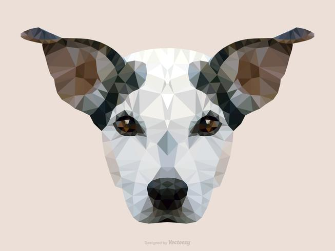 Retrato abstracto de Jack Russel Dog en diseño del vector de Low Poly