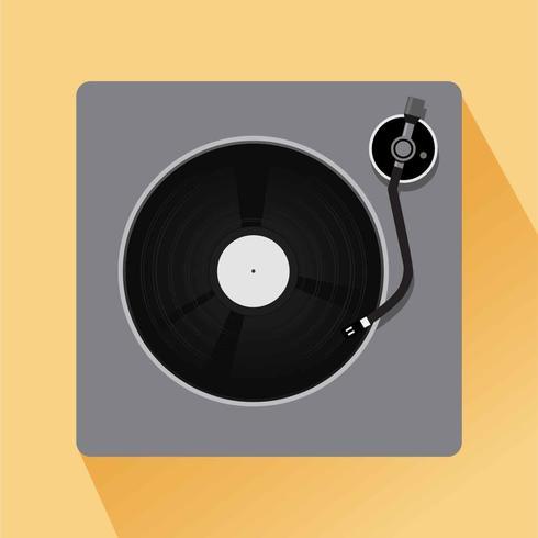 Vecteur d'illustration de disques vinyle