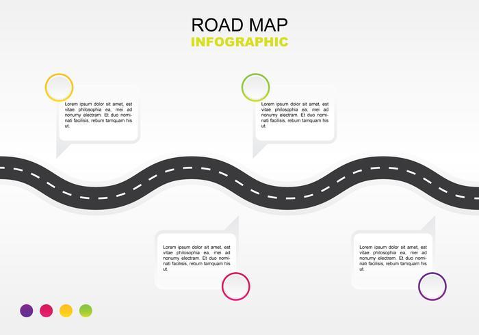 Mapa de carretera simple infografía