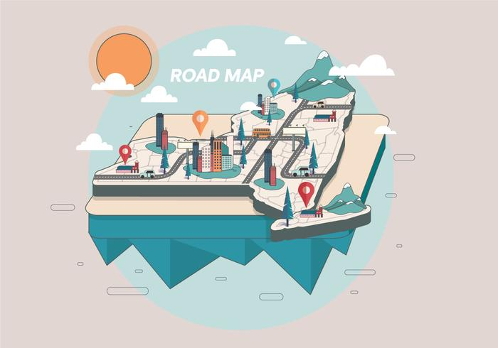 Road Map Vector