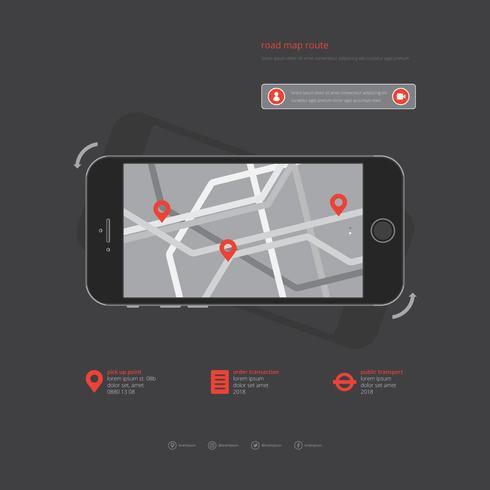 Illustration de l'application de la carte routière