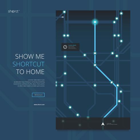 Ilustración de aplicación de mapa de carreteras