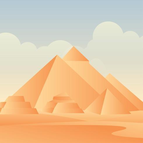 Vecteur de pyramides d'Egypte