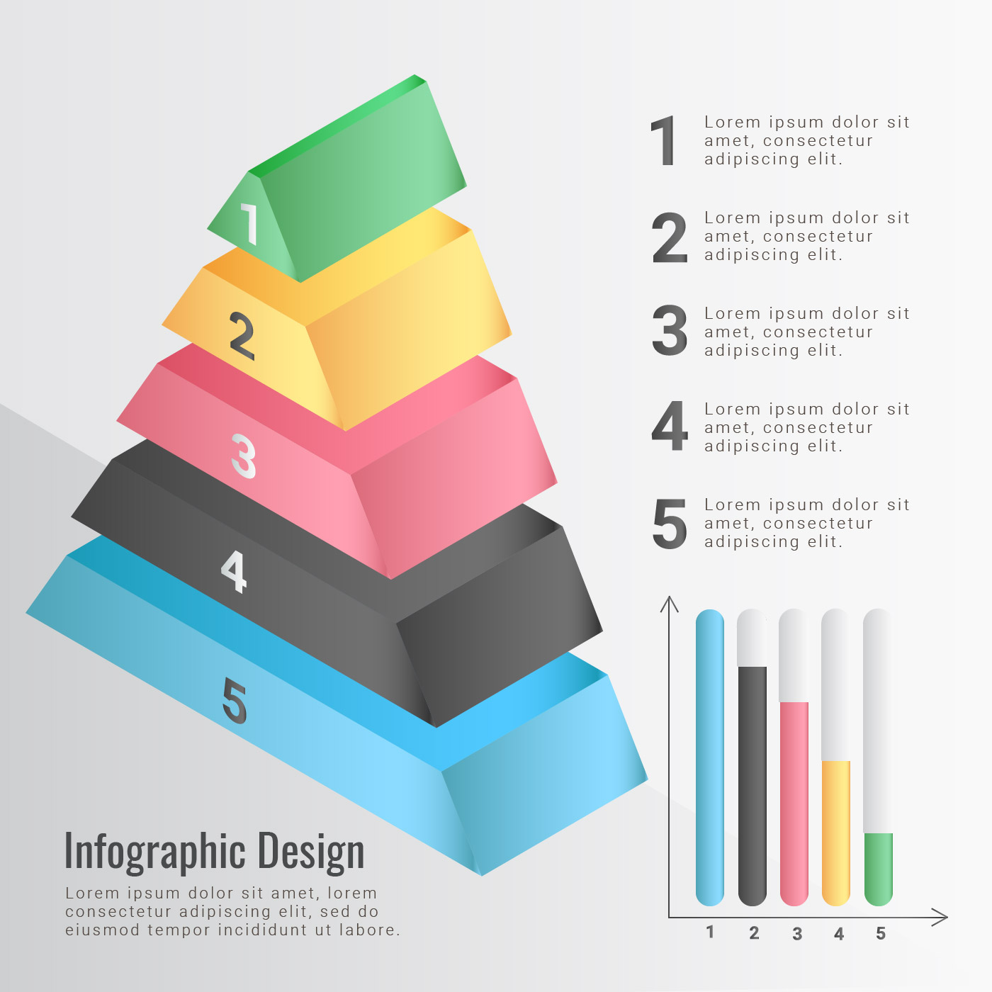 Vector Pyramid Infographic - Download Free Vector Art ...