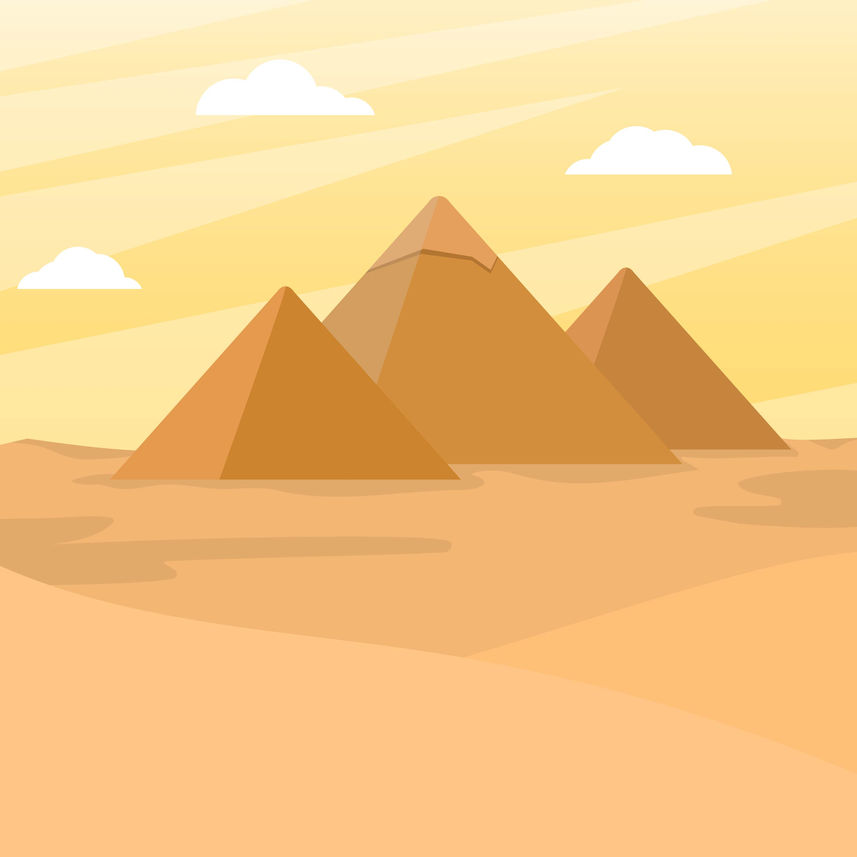 Flat Pyramids Vector Illustration