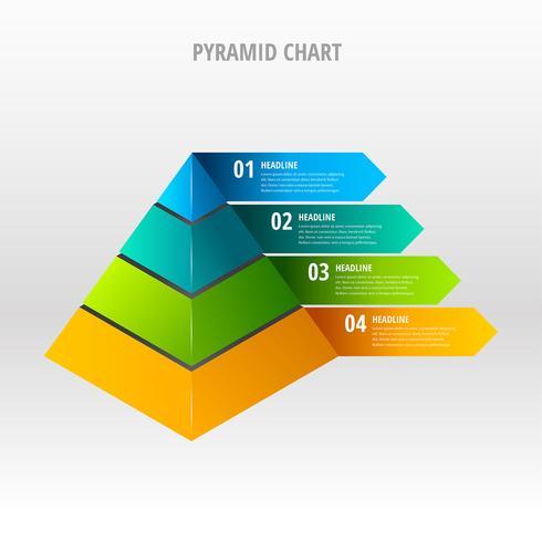 Pyramide-Diagramm-Vektor