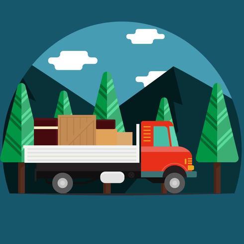 rörlig lastbil illustration vektor