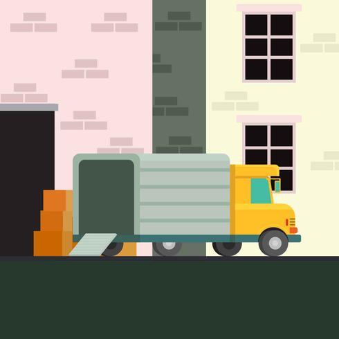 Vector de ilustración de camión móvil
