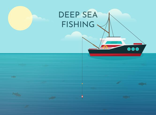 Deep Sea Fishing Background