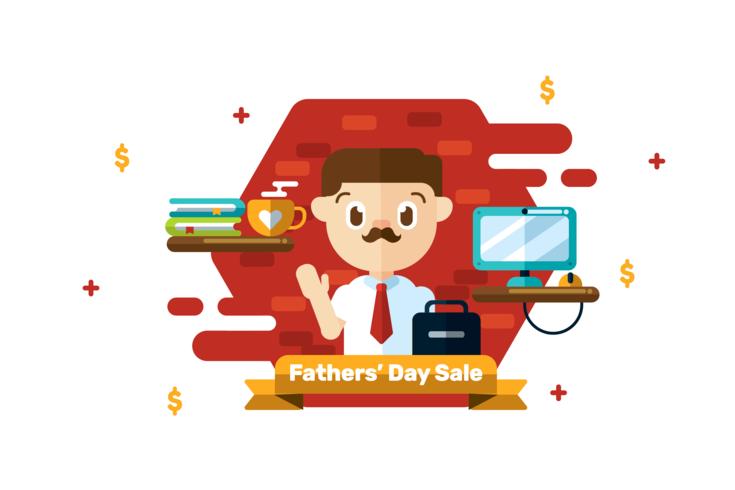 fäder dag försäljning vektor
