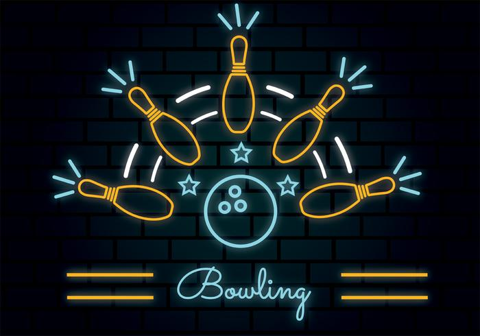 Neon Bowling Vektor Design
