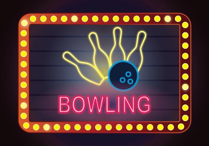 Illustration de bowling au néon