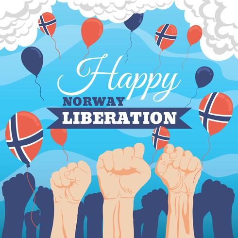 Norska Liberation Day Illustration