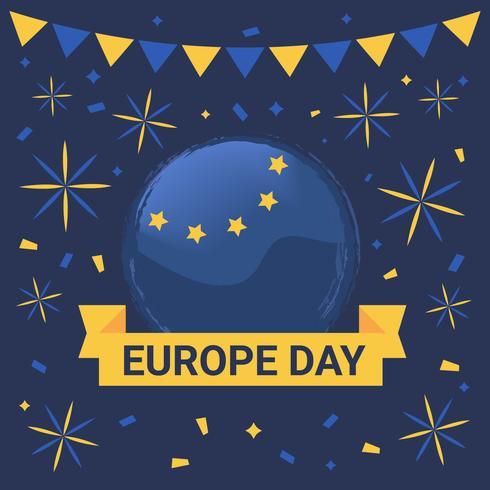 Happy Europe Day Vector