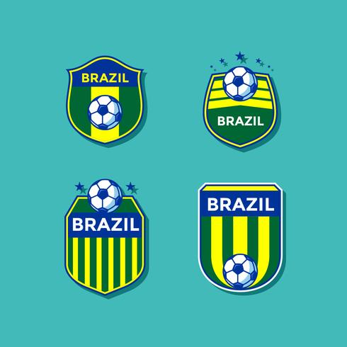 Brazil Soccer Patches Vector
