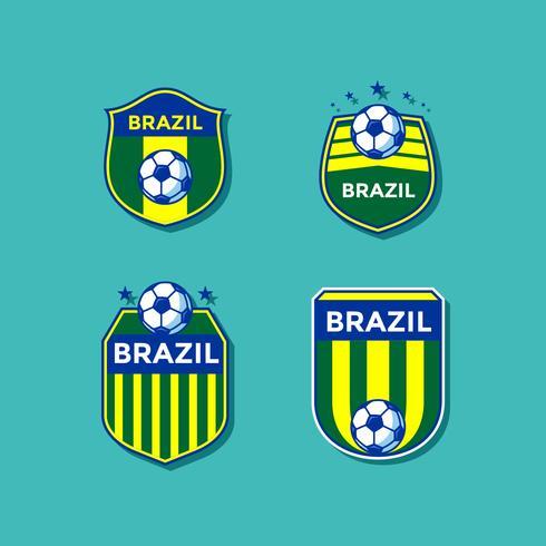 Vector de parches de fútbol de Brasil