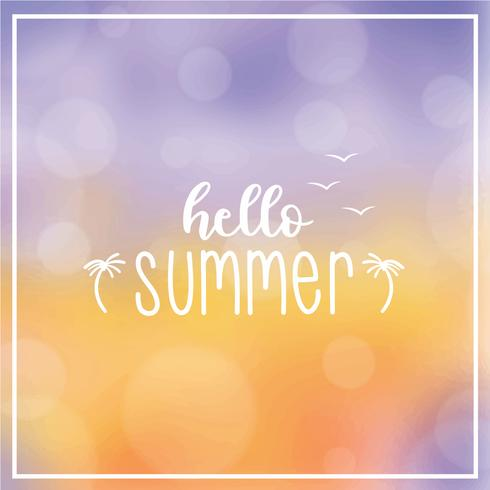 Arrière-plan flou de bokeh d'été