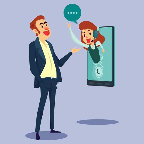 Ilustração de conceito de serviço ao cliente on-line vetor