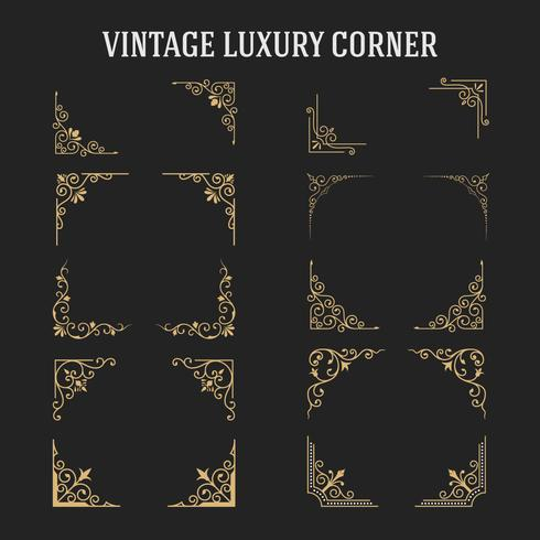 Set of Vintage Luxury Corner Design