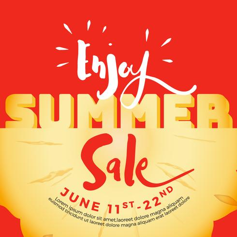 Enjoy summer sale typography on carved pineapple