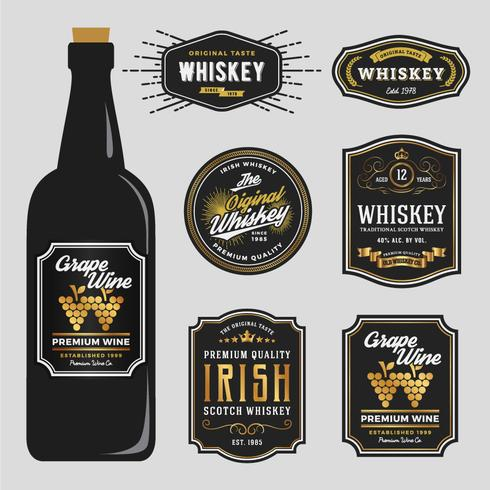 Vintage Premium Whisky Marken Label Design