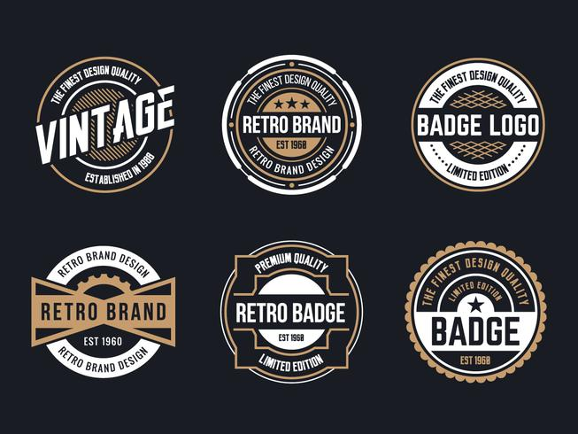 Circle Vintage and Retro Badge Design