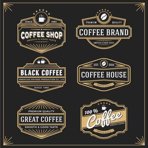 Satz von Vintage-Rahmen-Design für Etiketten Banner Aufkleber und andere