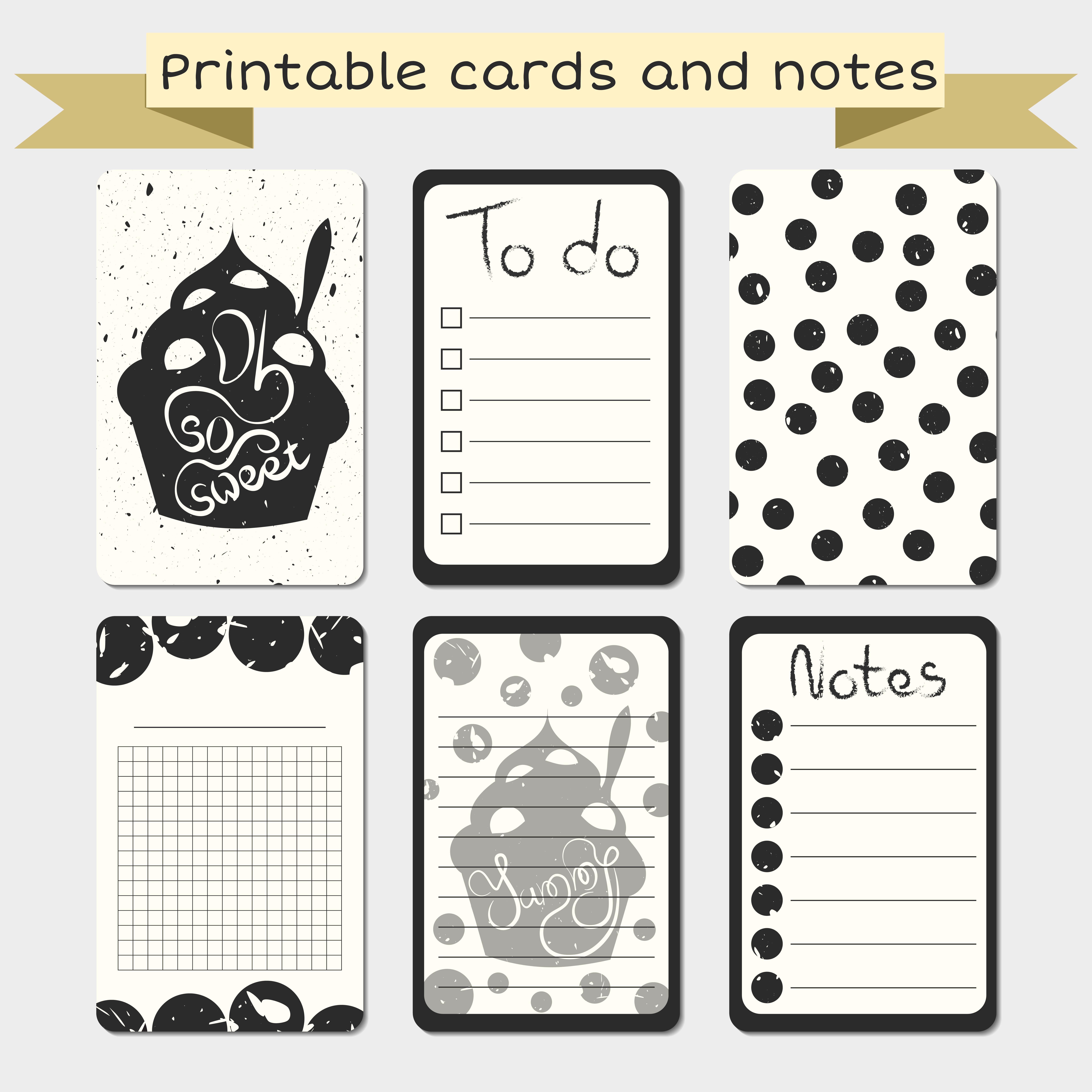 Printable journaling cards. Notes designs. - Download Free ...