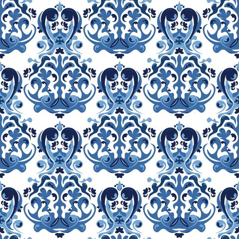 Seamless blue pattern.