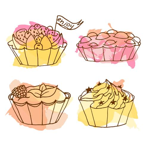 Tarts vector illustration.