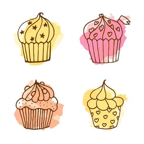 Vector cupcake illustration.