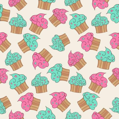 Cupcakes nahtlose Muster.