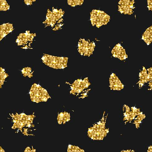 Golden glitter seamless pattern. Vector background with gold.