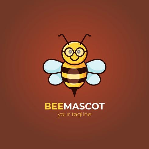 vettore della mascotte dell'ape