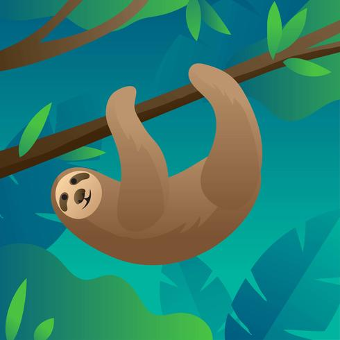 Sloth Forest Vector