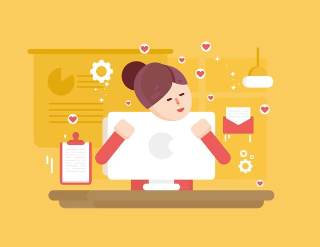 In Liebe mit Technologie Vektor